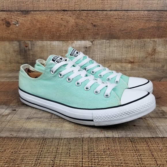 Converse All Star Lo Beach Glass Mint Green Shoes